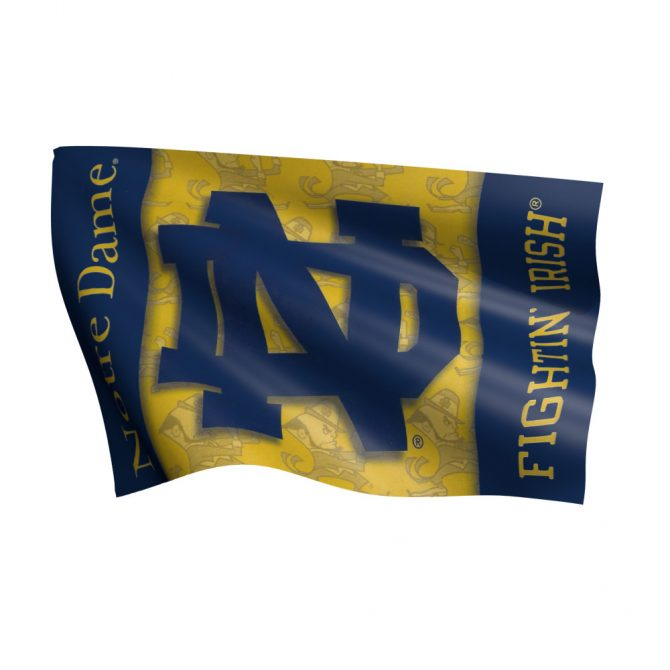 Notre Dame Double Sided ND Polyester Flag