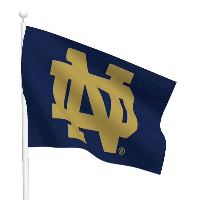 Notre Dame Interlocking ND Nylon Flag
