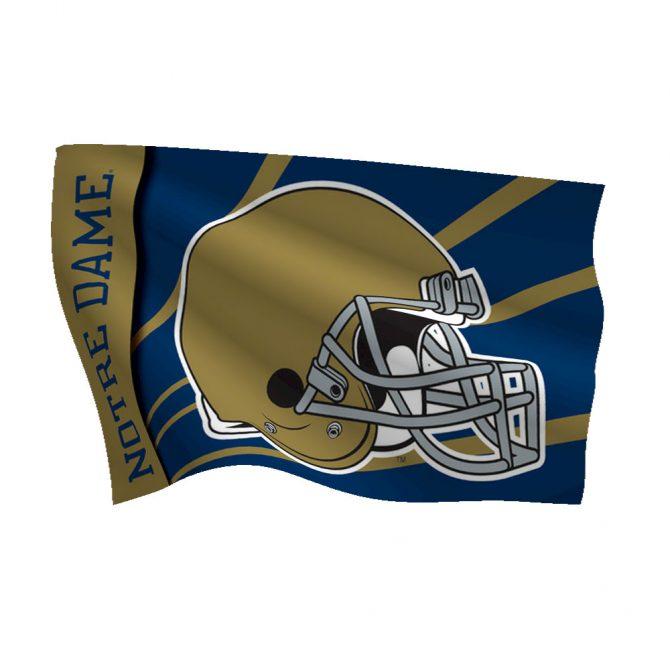 Notre Dame Polyester Helmet Flag