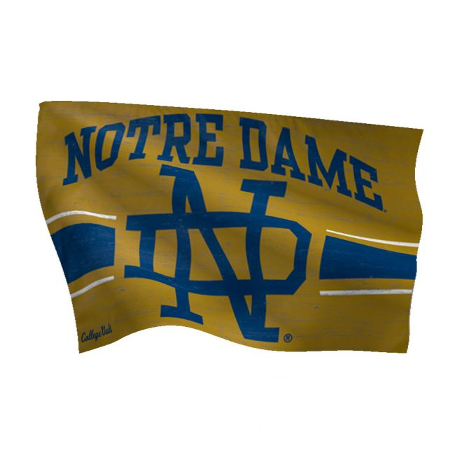 Notre Dame Interlocking ND Vault Flag