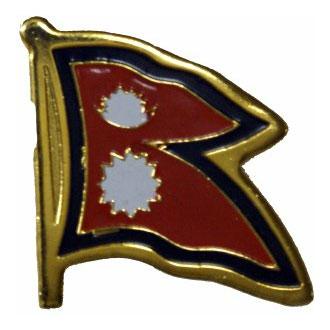 Nepal Flag Lapel Pin