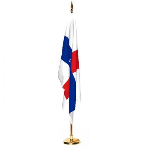 Indoor Netherlands Antilles Ceremonial Flag Set