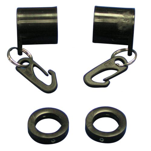 Black Never Furl Flag Mounting Set