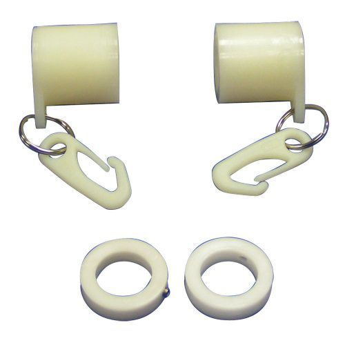 White Never Furl Flag Mounting Set