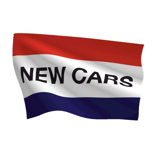 3ft x 5ft New Cars Message Flag