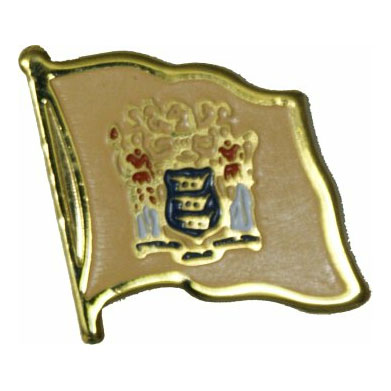 New Jersey Flag Lapel Pin