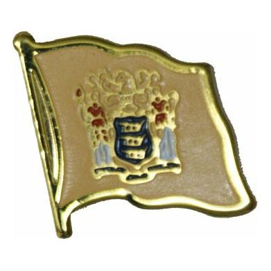New Jersey Flag Lapel Pin