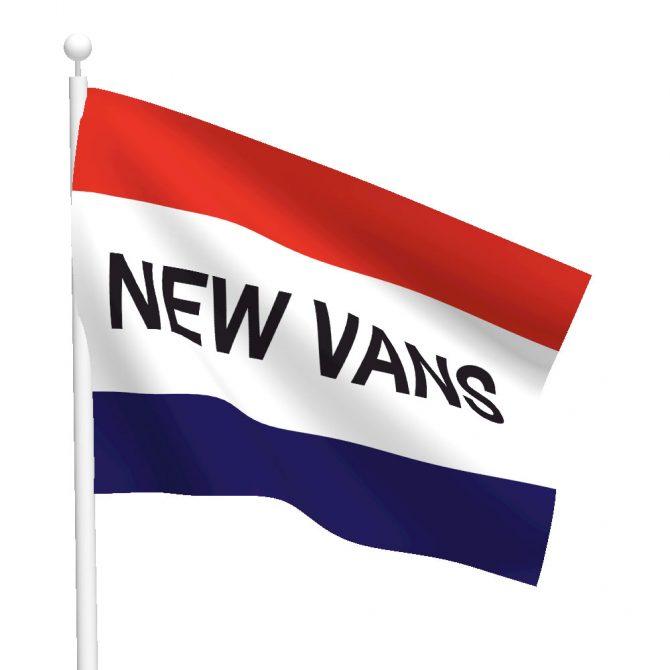 3ft x 5ft New Vans Message Flag