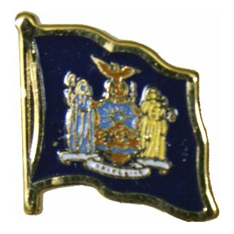 New York Flag Lapel Pin