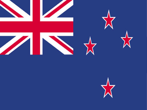 New Zealand Flag with Staff and Spear