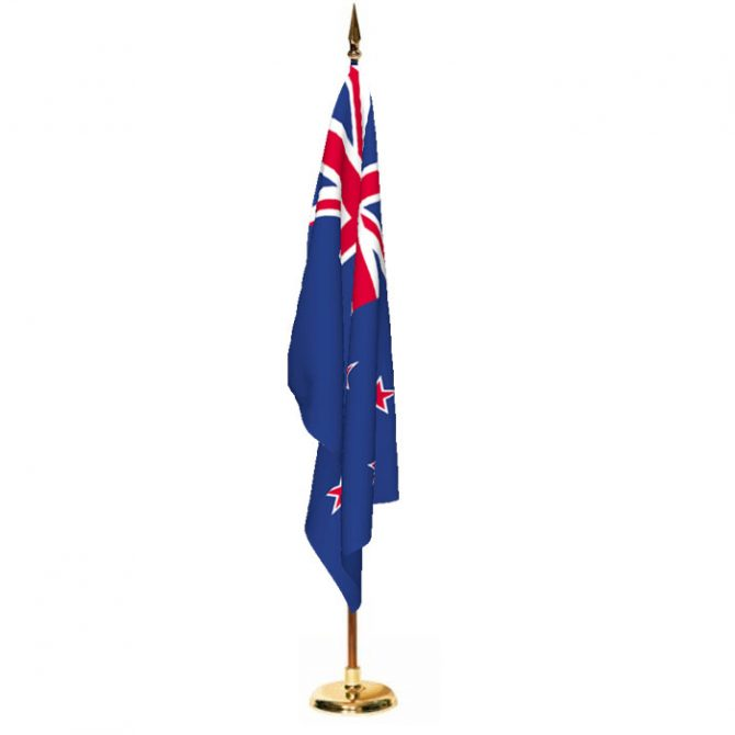 Indoor New Zealand Ceremonial Flag Set