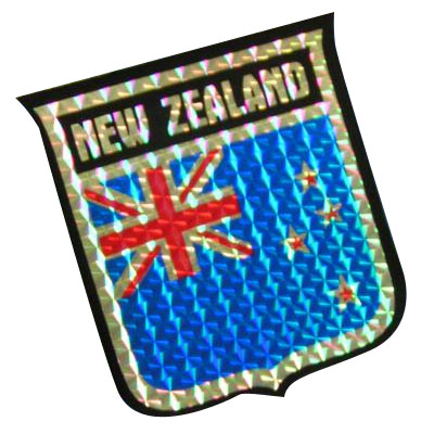 Vinyl Metallic New Zealand Decal
