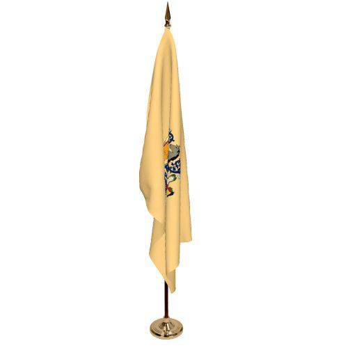 Indoor New Jersey Ceremonial Flag Set