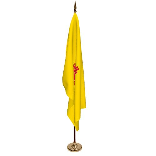 Indoor New Mexico Ceremonial Flag Set