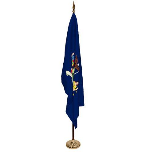 Indoor New York Ceremonial Flag Set