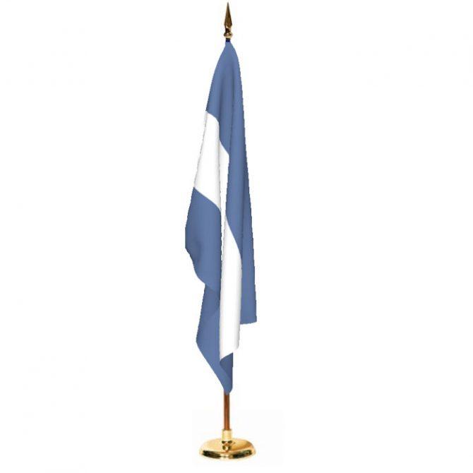 Indoor Nicaragua Ceremonial Flag Set
