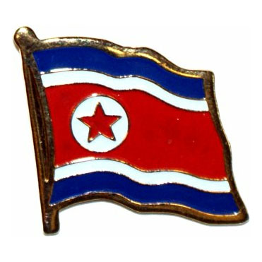 North Korea Flag Lapel Pin