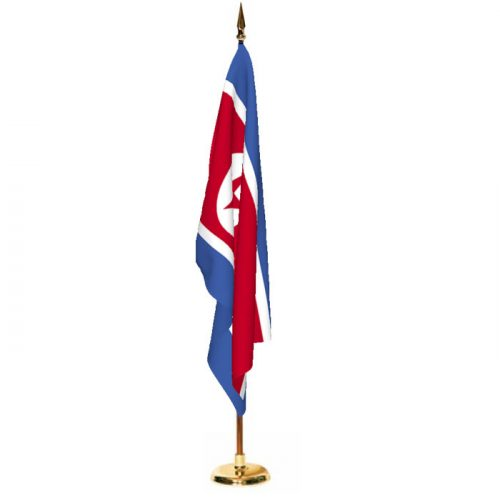Indoor North Korea Ceremonial Flag Set