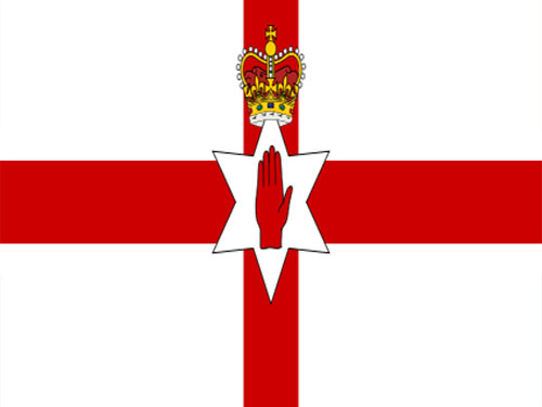 4in x 6in Northern Ireland Flag with Staff and Spear