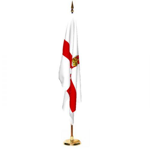 3ft x 5ft Indoor Northern Ireland Ceremonial Flag Set