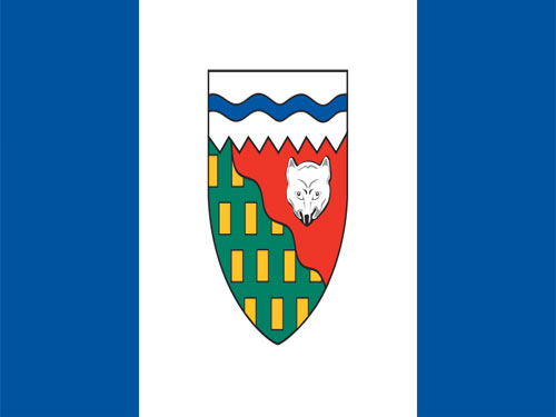 4in x 6in Northwest Territories Flag with Staff and Spear
