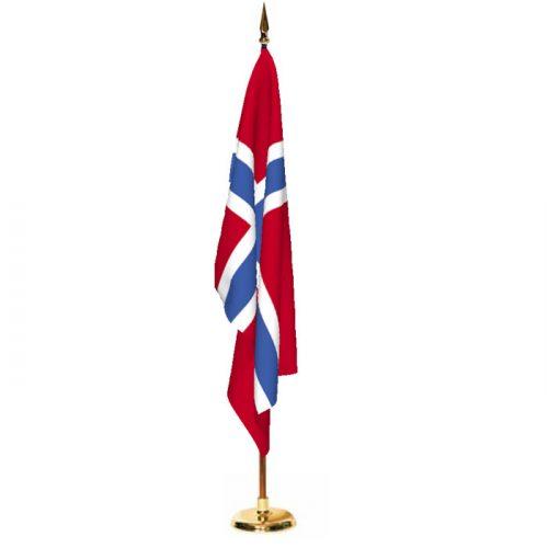 Indoor Norway Ceremonial Flag Set