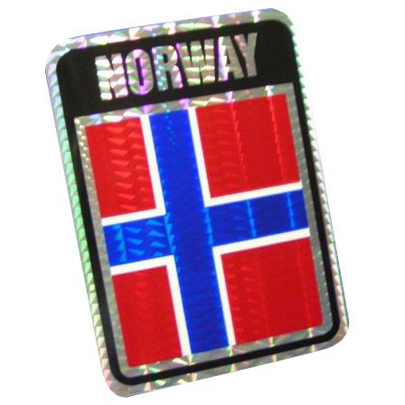 Vinyl Metallic Norway Decal