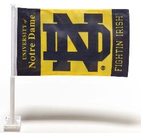 Notre Dame ND Car Window Flag