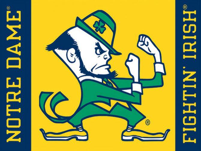 Notre Dame Leprechaun Polyester Flag