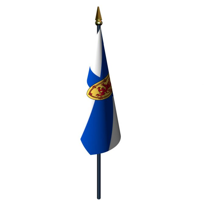 4in x 6in Nova Scotia Flag with Staff and Spear