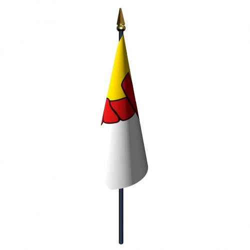 4in x 6in Nunavut Flag with Staff and Spear