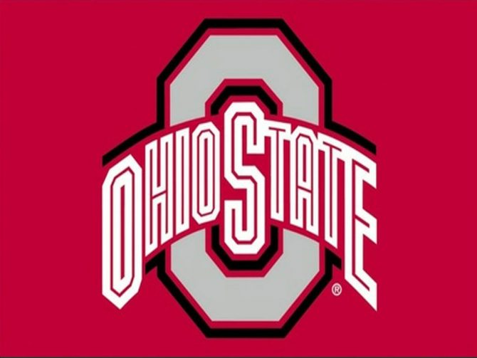 Ohio State University Polyester Flag