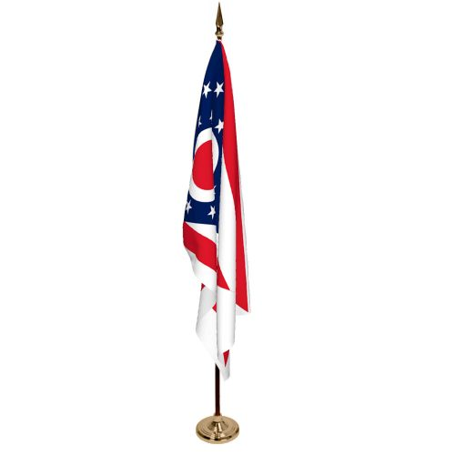 Indoor Ohio Ceremonial Flag Set