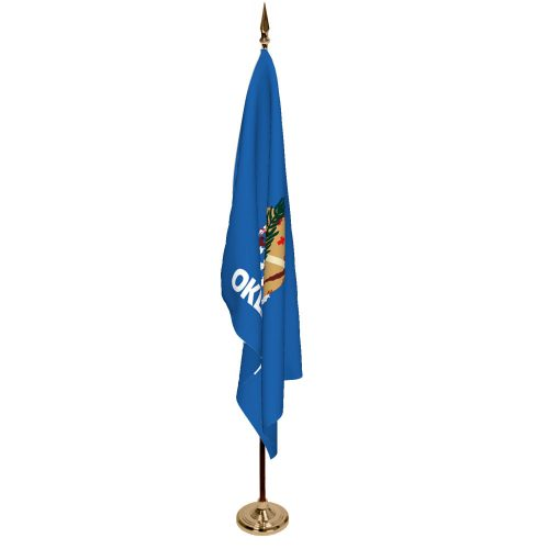 Indoor Oklahoma Ceremonial Flag Set