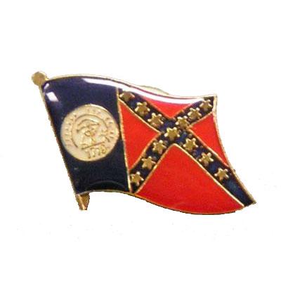 Old Georgia Flag Lapel Pin
