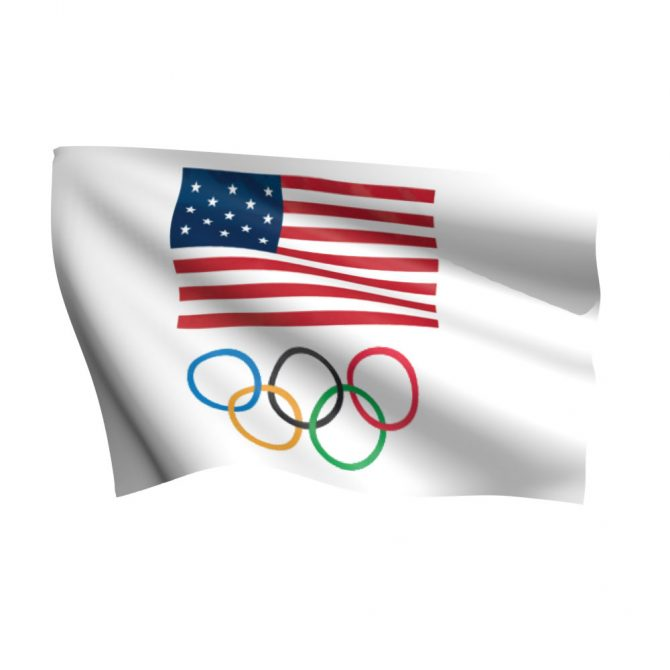 USOC Olympic Ring Flag