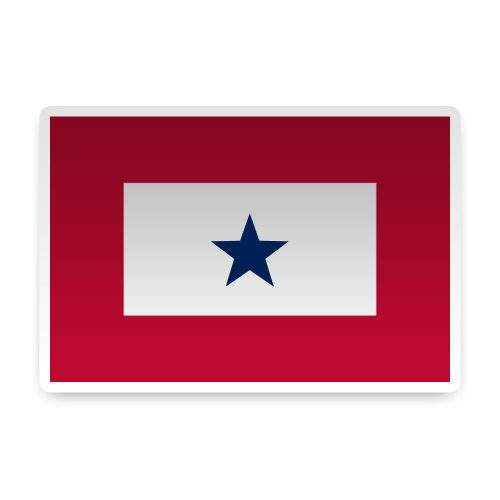 1 Blue Star Sticker
