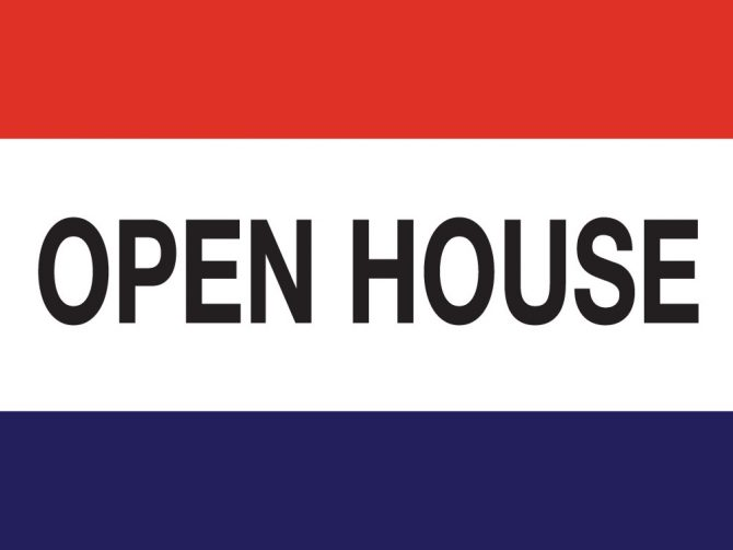 3ft x 5ft Open House Message Flag