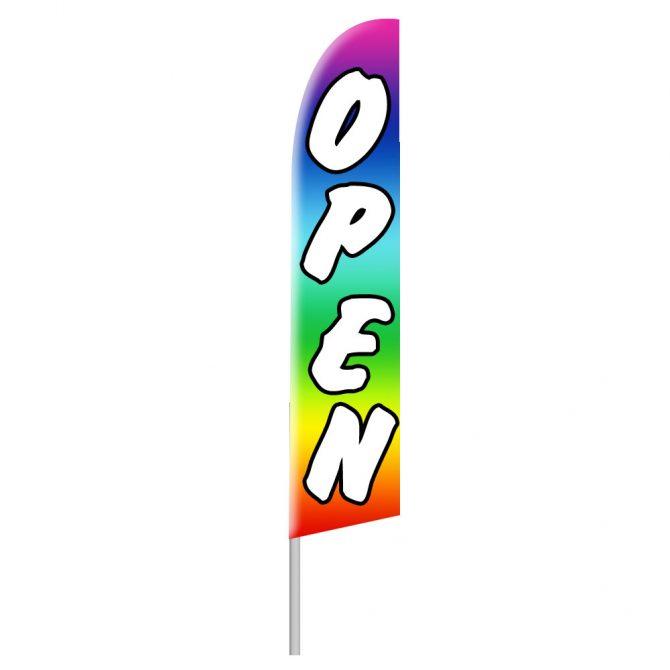 Rainbow Open Tall Flag