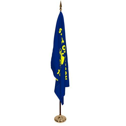 Indoor Oregon Ceremonial Flag Set