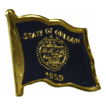 Oregon Flag Lapel Pin
