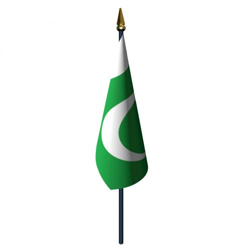 Pakistan Flag with Staff and Spear