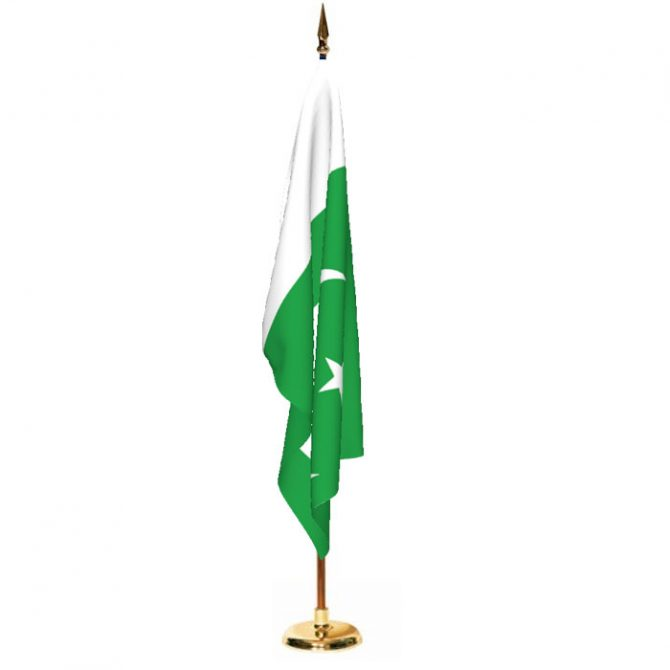 Indoor Pakistan Ceremonial Flag Set