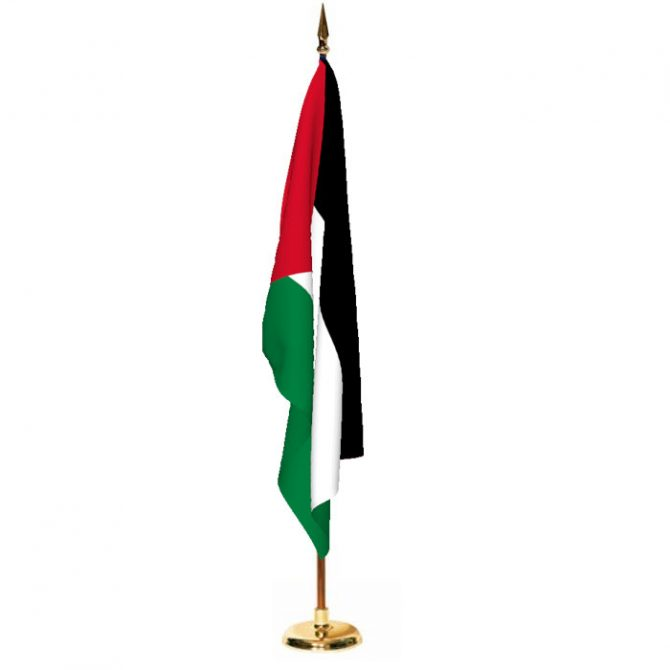 Indoor Palestine Ceremonial Flag Set