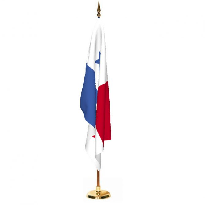 Indoor Panama Ceremonial Flag Set