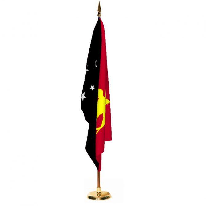 Indoor Papua New Guinea Ceremonial Flag Set