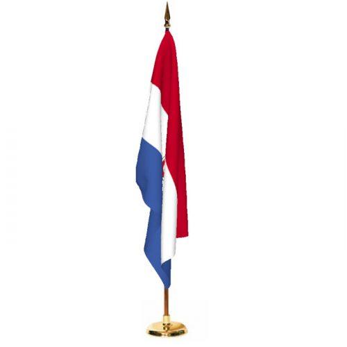 Indoor Paraguay Ceremonial Flag Set