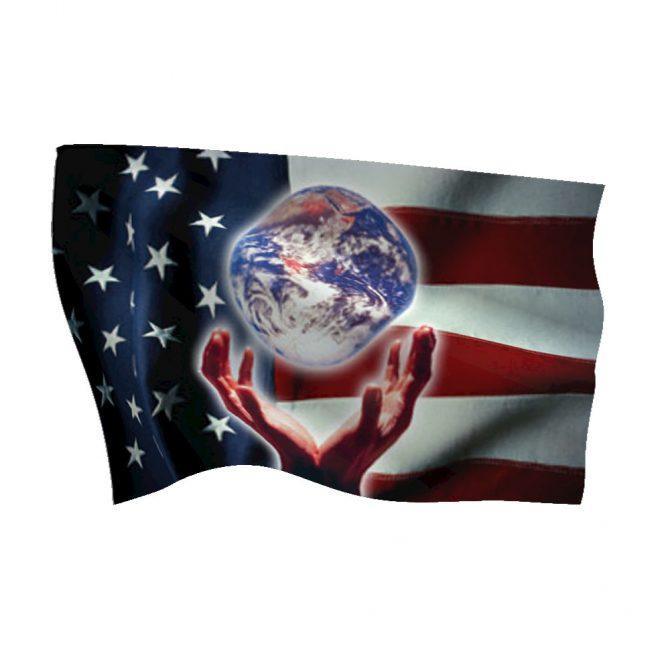Patriotic World Flag