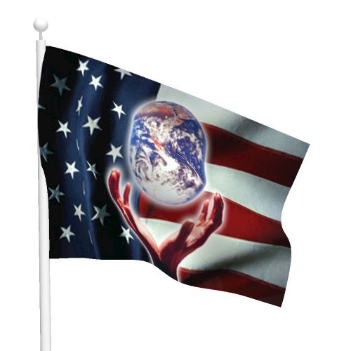 Patriotic World Flag