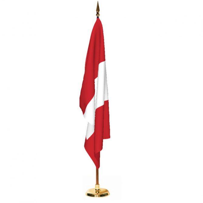 Indoor Peru Ceremonial Flag Set